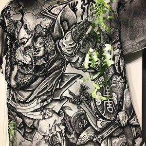 Affliction Shirts - Affliction heroes & demons designer v neck L